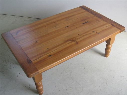 Custom Made Wood Coffee Table For Living Room