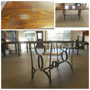 Custom Made Solid Beech Wood Dining Table