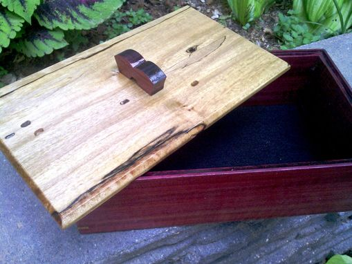 Custom Made Handmade Wooden Box In Purpleheart And Maple