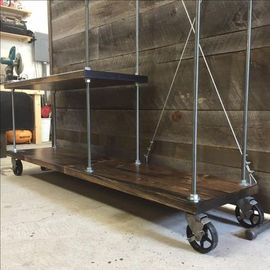 Custom Made Industrial Entryway Coat Rack / Storage Cart