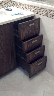Custom Made Arts & Crafts Bathroom Cabinetry