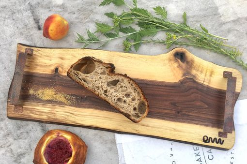 Custom Made Unique Custom Serving Tray, Cheese Board, Charcuterie Or Serving Board With Handles