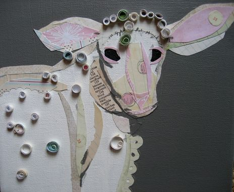 Custom Made Lamb Collage In Whites Limited Edition Print