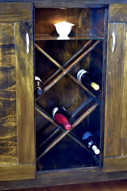 Custom Made Contemporary Rustic Custom Wine Rack/Credenza