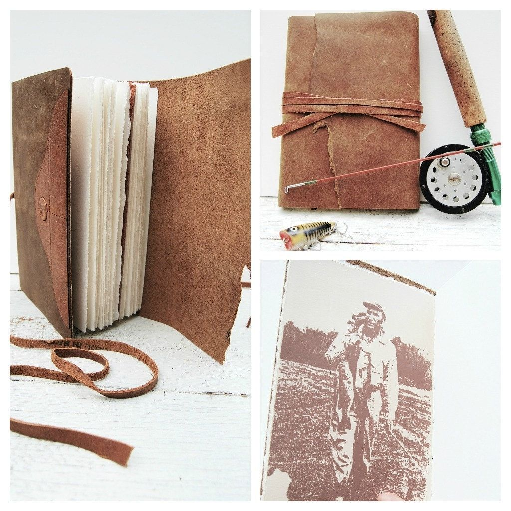 Preferred Hand Crafted Leather Bound Journal Outdoorsman Diary Hunter  UI09