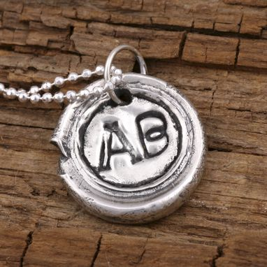 Custom Made Sterling Silver Letter Initial M Monogram Pendant