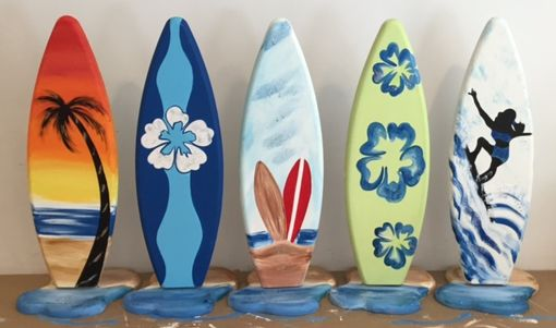 Custom Made 2ft Tall Wooden Surfboard Table Party Centerpiece Number Decoration