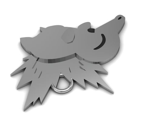 Custom Made Pokemon Cyndaquil Sterling Silver Pendant