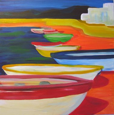 "Custom Made Original Acrylic Painting ""Boats In La Paz"""