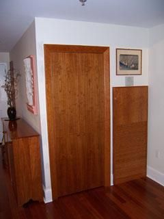 Custom Made Cherry Door And Ventilation Cover