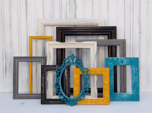 Custom Made Custom Set Of Ten Picture Frames