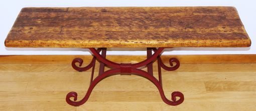 Custom Made Rustic Wood & Iron Accent Table/Bench By Rustic Furniture Hut
