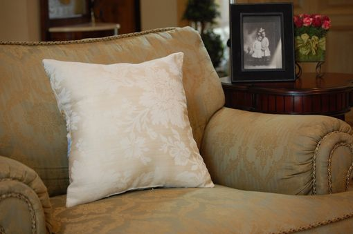 Custom Made Shabby Vintage Butter Cream Chenille Small Pillow