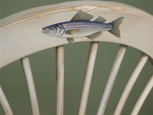 Custom Made Ocean Theme Wooden Fan Chairs