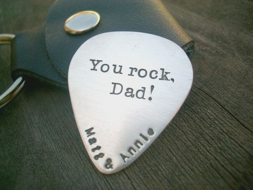 Custom Made Guitar Pick Charm In Sterling Silver
