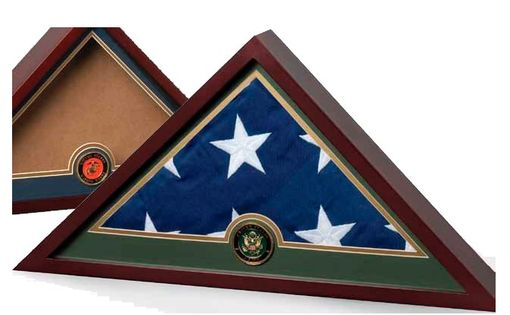 Custom Made Navy Frame, Navy Flag Display Case, Navy Gifts