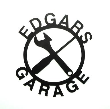 Custom Made Personalized Garage Metal Art Sign