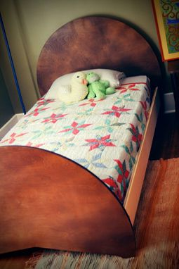 Custom Made Cocoa Twin Bed