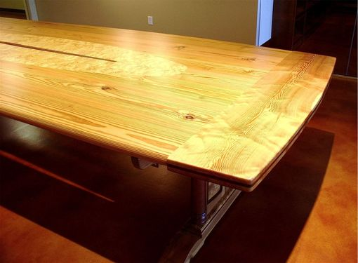 Custom Made Reclaimed Heart Pine Conference Table