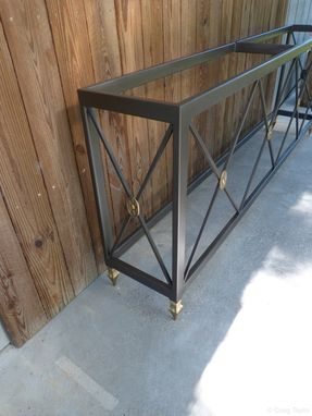 Custom Made Steel Console Table