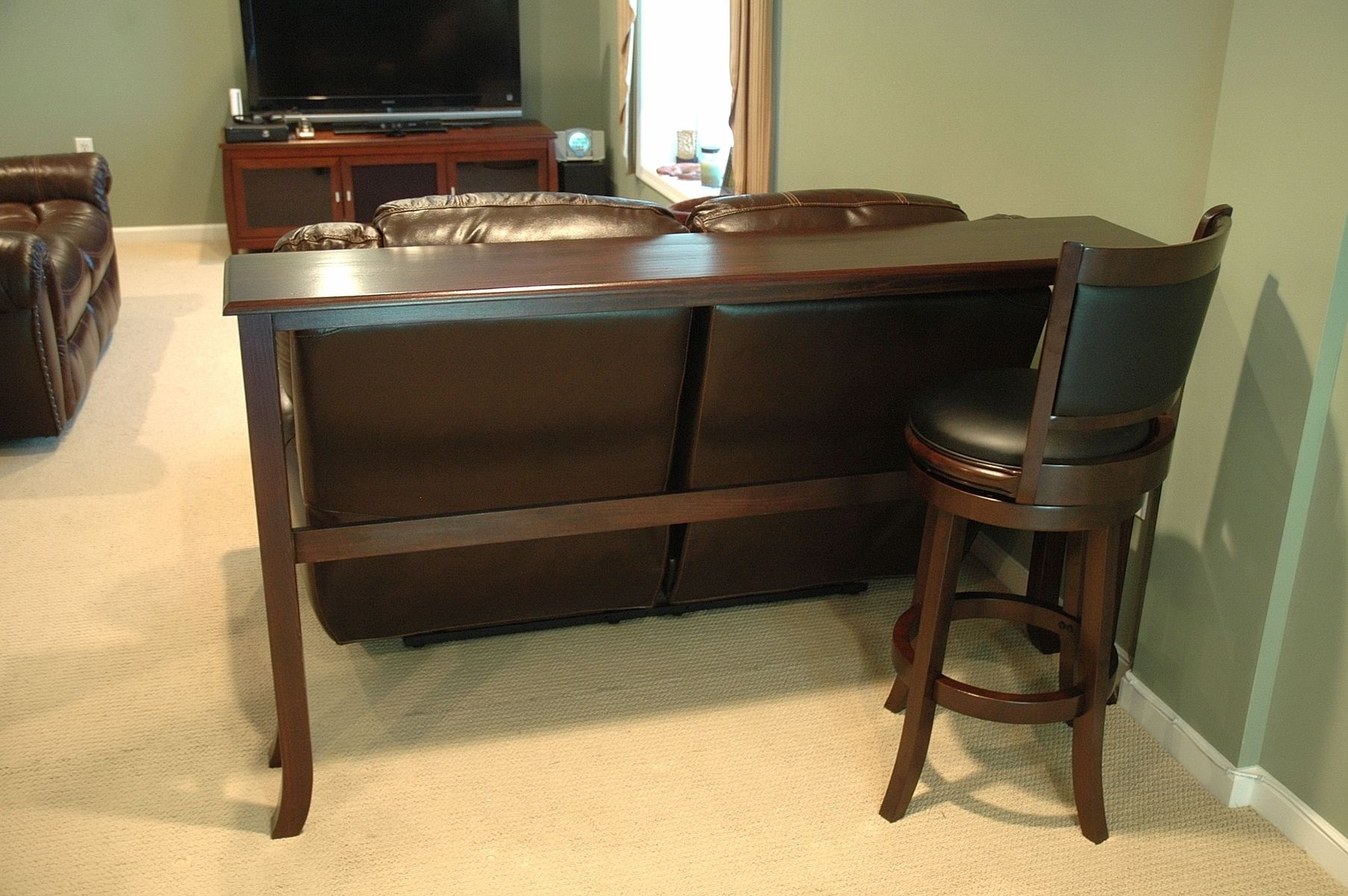 custom made bar table by wooden it be nice. Black Bedroom Furniture Sets. Home Design Ideas