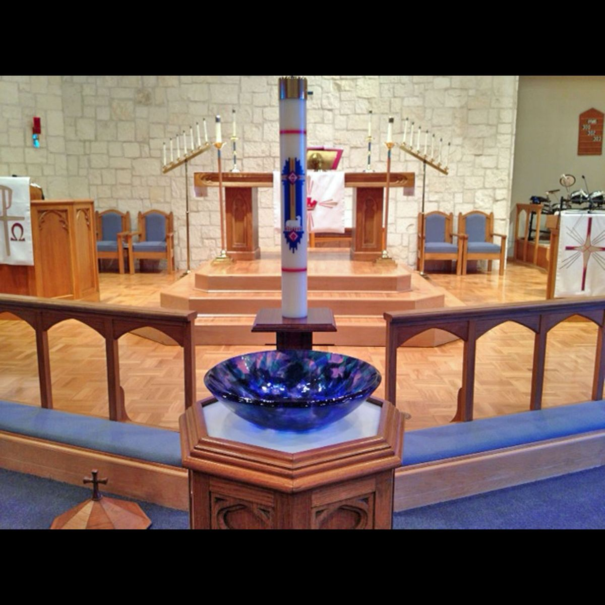 Hand Made Zion Lutheran Church Baptismal Font Bowl By