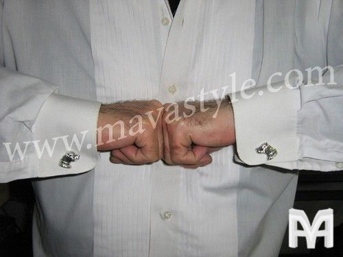 Custom Made Sterling Silver Pitbull Pit Bull Cufflinks Cuff Links