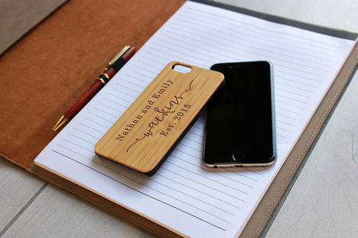 Custom Made Custom Engraved Wooden Iphone 6 Case --Ip6-Bam-Nathan Emily Watkins