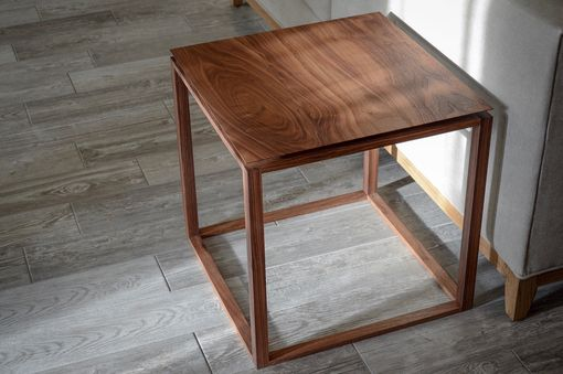 Custom Made Modern Contemporary End Table | Side Table | Nightstand Bedside Table | Danish Mid Century