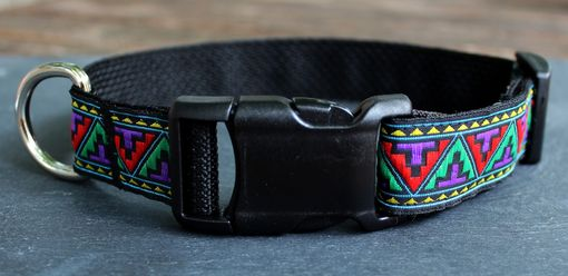Custom Made Adjustable Dog Collar-Multi-Color Aztec Pattern Collar