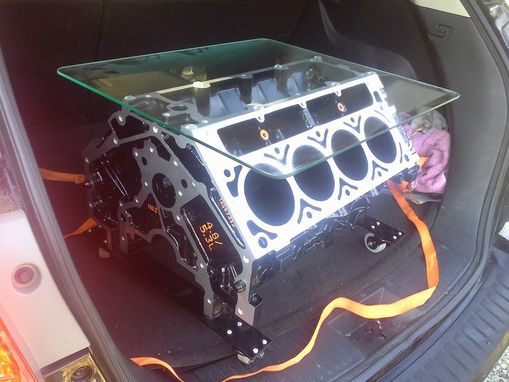 Custom Made Recycled Chevrolet V8 Coffee Table