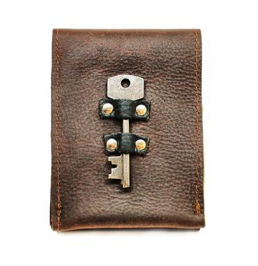 Custom Made Leather Smart Phone Case With Antique Key