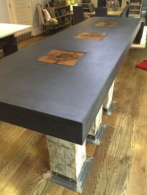 Custom Made Modern Kitchen Island Concrete In Denver