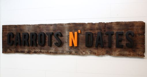 Custom Made Reclaimed Wood Sign