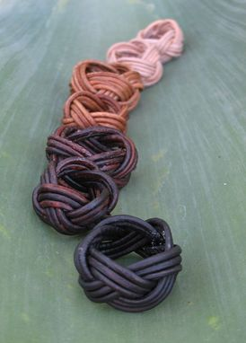 Custom Made Ring:  Turk's Head Knot From Leather Cord