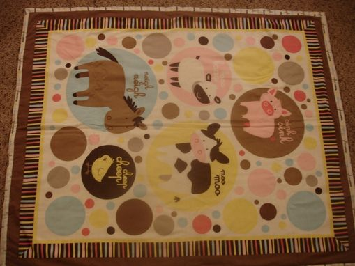 Custom Made Panel Lap Quilts - Farm