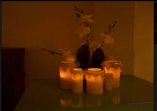 Custom Made Translucent Art Glass Candle Sleeves
