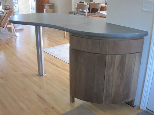 Custom Made Curved Kitchen Island Cabinet