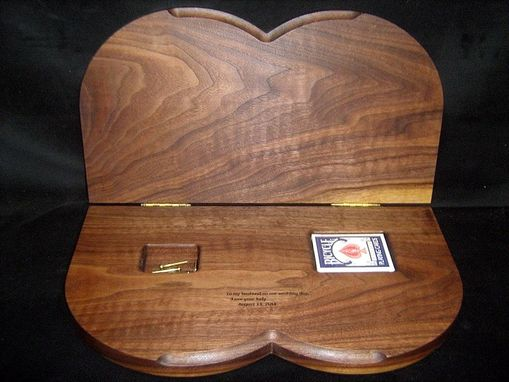 Custom Made Custom Interlocking Wedding Rings Cribbage Board