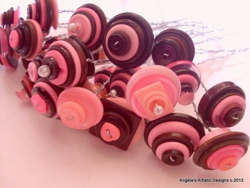 Custom Made Assorted Colored Buttons Bouquet Stems