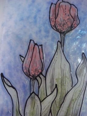 Custom Made Tulip Blush - Glass Fusing Artwork