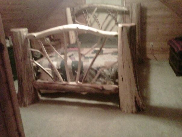 Handmade Cedar Log Bed By Brokenbalsams Custommade Com
