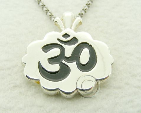 Custom Made Om Silver Yoga Pendant