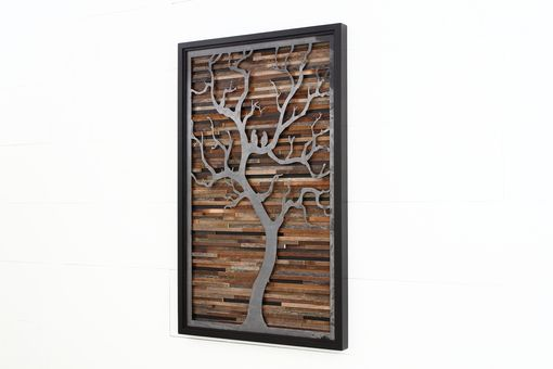 Custom Made Wood Wall Art Made Of Old Barnwood And Natural Steel 36
