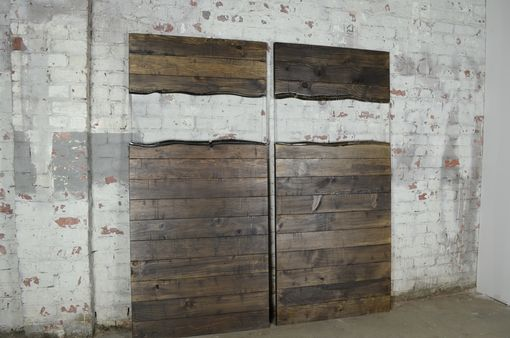 Custom Made Distressed Pine And Resin Interior Barn Door