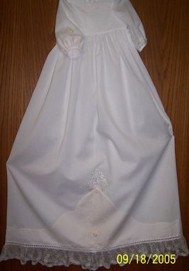 Custom Made Blessing Gown In White And Pink