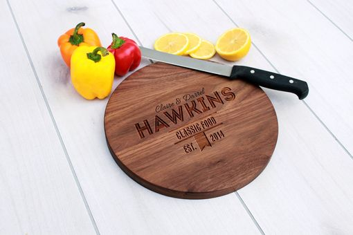 Custom Made Personalized Cutting Board, Engraved Cutting Board, Custom Wedding Gift – Cbr-Wal-Hawkins