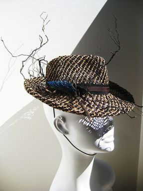 Custom Made Seagrass And Exposed Roots Cocktail Fedora
