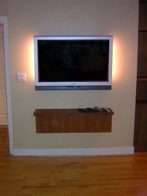 Custom Made Elegant Teak Media Cabinet