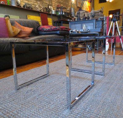 Custom Made Metal – Modern Chrome Stool Bases